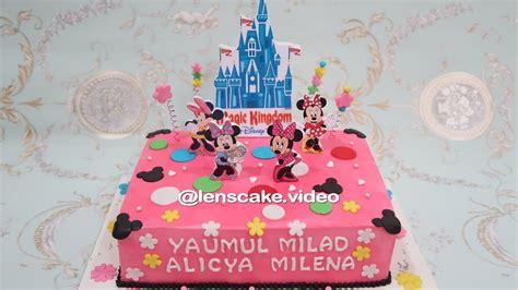 membuat kue ulang tahun games how to make birthday cake minnie mouse cara membuat kue