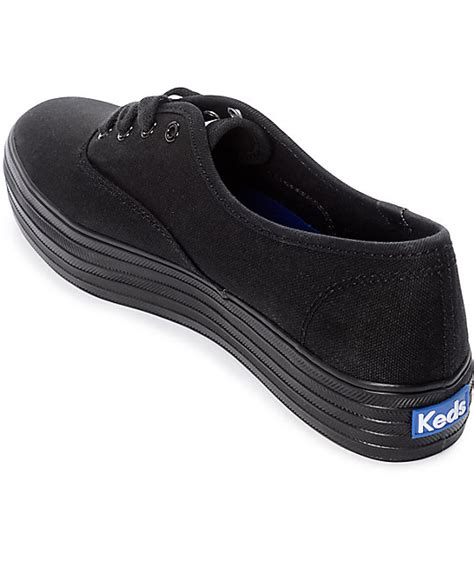 Keds Tripple Black White keds black platform shoes zumiez