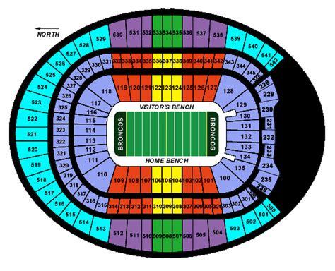 denver broncos stadium seating chart colorado tourism info invesco field at mile high