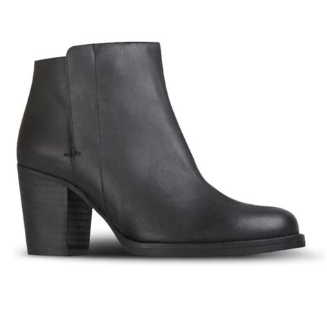 kurt geiger s soda heeled leather ankle boots