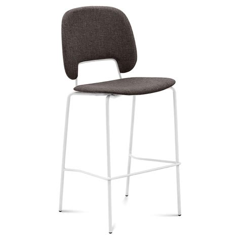 White And Brown Stool by Modern Counter Stools Trajan White Brown Eurway