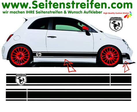 Decal Striping Sticker Klx 041 Glossy fiat 500 abarth seal xl side stripes decal sticker set