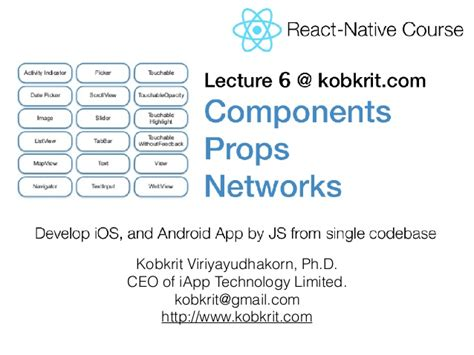 react native router tutorial react native tutorial lecture 6 component props and