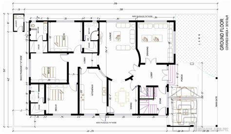 Rental House Plans by 1 Kanal House Map Gharplans Pk