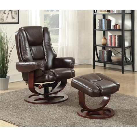palliser recliner with ottoman coaster recliners with ottomans 600086 plush recliner and