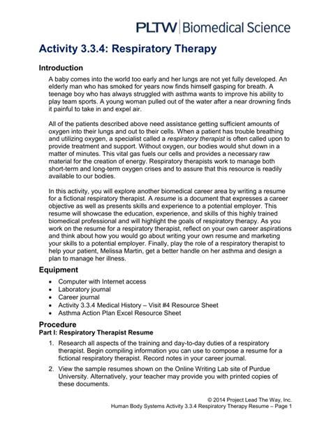 best curriculum vitae for respiratory therapist pictures