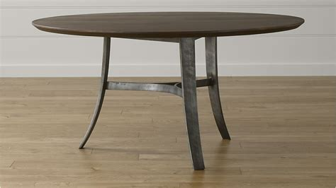 tahoe 60 quot round dining table crate and barrel