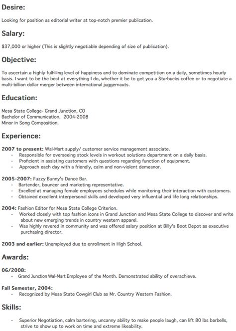 How To Write The Best Resume by Write The Best Resume Resume Template Sle