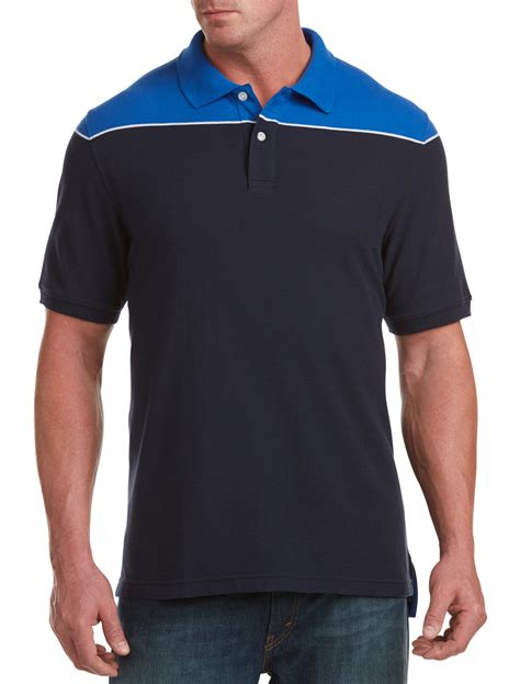 harbor bay s big and colorblock polo clothing