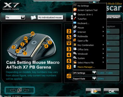 A4tech X7 F5 Macro Gaming Mouse cara mudah setting mouse macro a4tech x7 pb garena