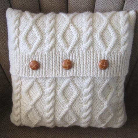Knitting Pillow Patterns - diamonds and cables knit pillow cover craftsy