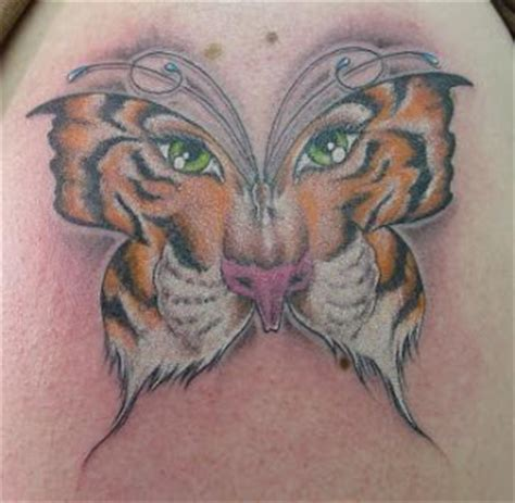 tattoo butterfly tiger face mytattoos tiger tattoo art design for body