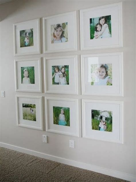 Christmas Livingroom 26 Gallery Wall Ideas With Same Size Frames Shelterness