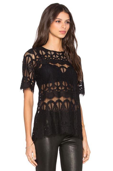 Top In Black bcbgeneration lace top in black lyst