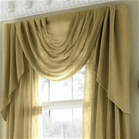 jcpenney swag curtains a window fashion valance 2rounded swags on pinterest