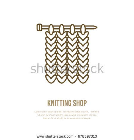 knitting signs knitting crochet made banner illustration stock