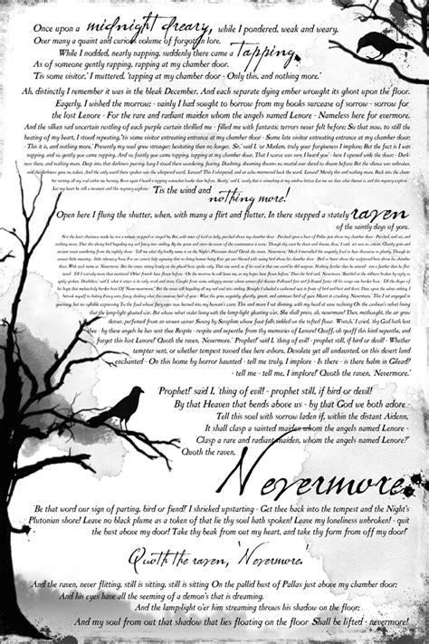 printable version of the raven book inspired halloween mantle decor quot the raven quot free