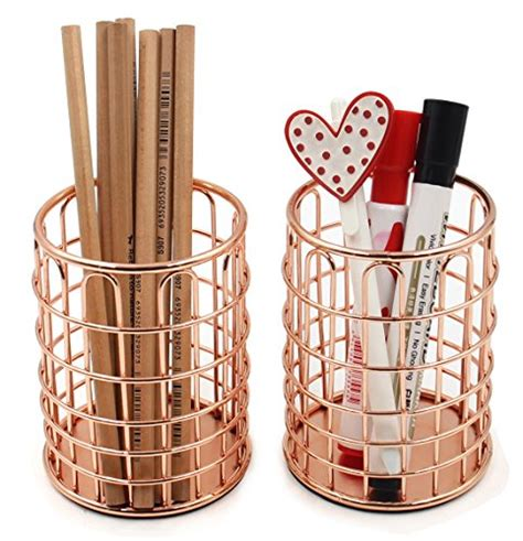 rose gold desk organizer superbpag rose gold copper wire desk pencil pen holder cup
