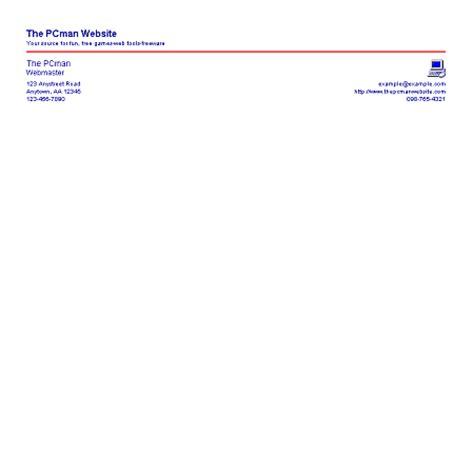business letterhead creator software style 4 letterhead creator the pcman website