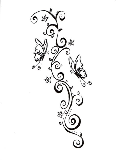 swirl tattoo butterflies and swirls design by lynettecooper