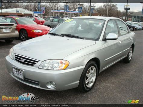 2003 Kia Spectra 2003 Kia Spectra Sedan Silver Grey Photo 2 Dealerrevs