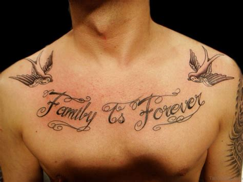 forever tattoo 27 family wording tattoos on chest