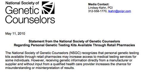 Patient Letter Templates Genetic Counseling dtc the dna exchange