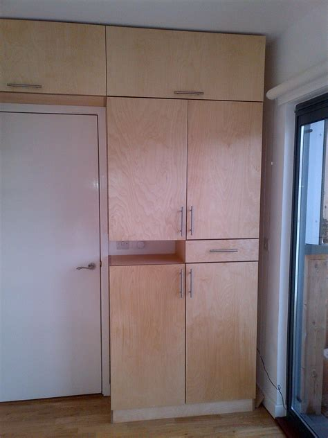 Birch Veneer Wardrobe by Cabinet Doors From Plywood Exles Ideas