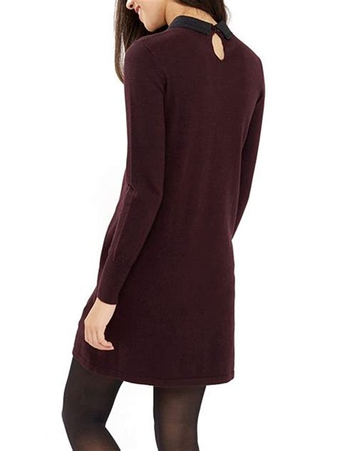 swing dress with collar oasis embellished collar swing dress burgundy house of