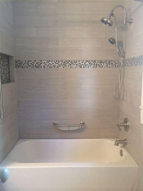 tile tub surround gray tile around bathtub grey tile