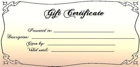 Blank Gift Card Templates Free by 30 Printable Gift Certificates Certificate Templates