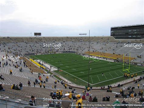 notre dame stadium sections notre dame stadium section 104 seat views seatgeek