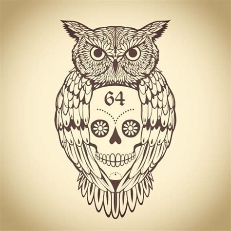 owl outline tattoo 20 owl skull tattoos designs