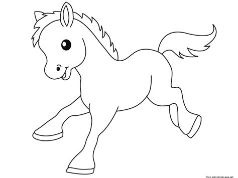 print out pony baby animals coloring pages free