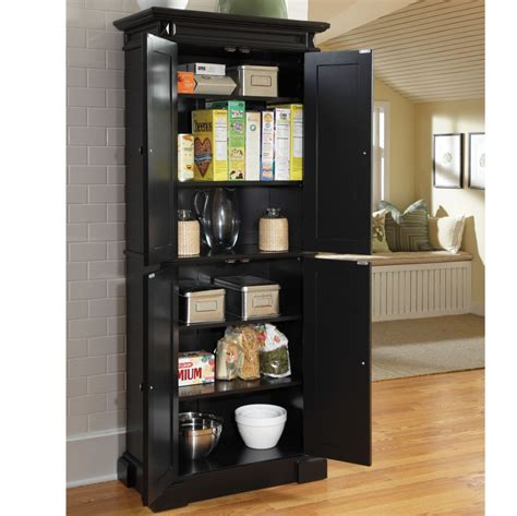 narrow 2 door storage cabinet black pantry kitchen
