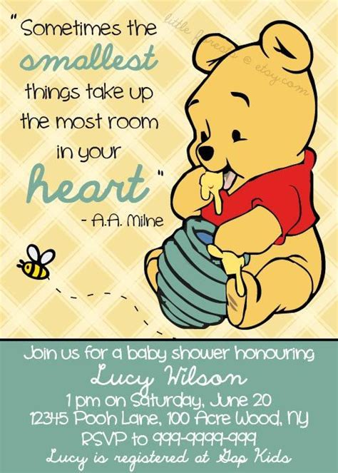 printable baby quotes winnie the pooh baby shower invitation printable by