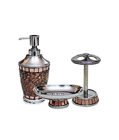 buy plumeria iceberg copper bathroom accessory set online