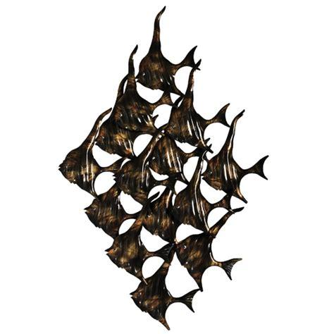Decorative Metal Fish Wall Art by Of Fish Metal Wall Art