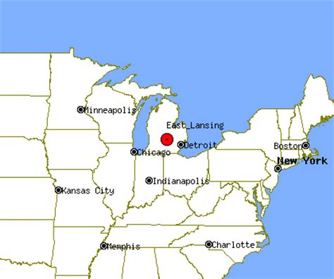 east lansing michigan map michigan map