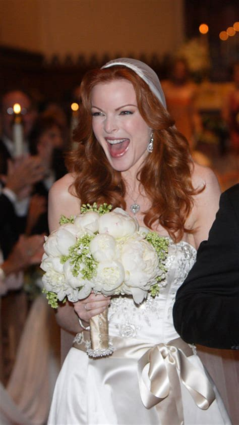 marcia cross tom mahoney wedding the best dressed celebrity brides of all time instyle