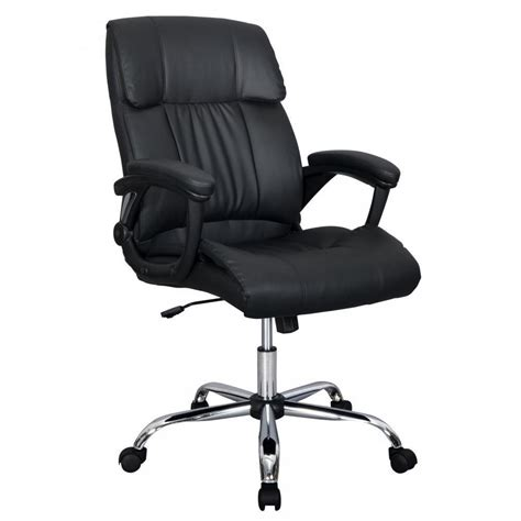 Black Pu Leather High Back Office Chair Executive Best Best Desk Chair For