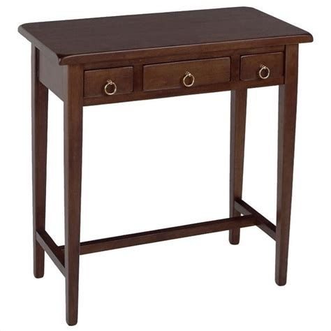 Hallway Table With Drawers Winsome Regalia 3 Drawer Walnut Console Table Ebay