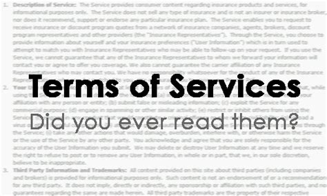 Term Of Service by Terms Of Services Did You Read Them Yingying Zhang