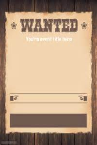 Poster Maker Template by Wanted Western Themed Invitation Flyer Template