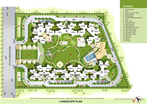 landscape floor plan elegant ville noida extension greater noida