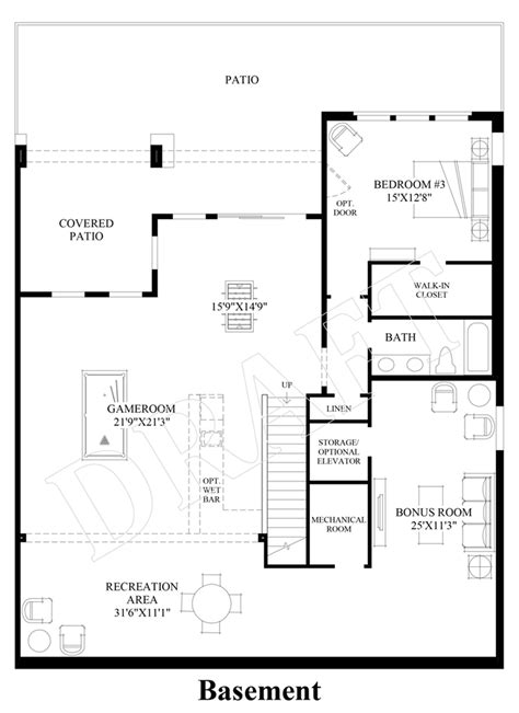 design your own basement floor plans the overlook at firerock the chimney rock cottage home design