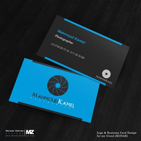 kodak business card template photographer business card and logo design by marwanzahran