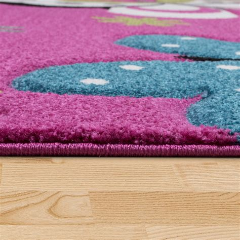 schmetterling teppich schmetterling teppich fuchsia pink grau creme kinderzimmer