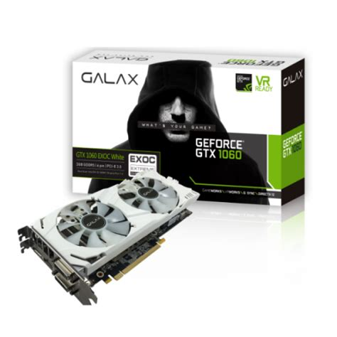 Vga Zotac Gtx 1060 Gtx1060 3gb Overclock Edition galax geforce 174 gtx 1060 exoc white 3gb graphics card