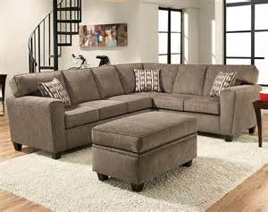 Sectional Sofa Light Gray Two Mickey Pewter Two